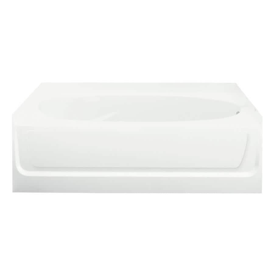 Sterling Ensemble White Fiberglass and Plastic Composite Oval In Rectangle Skirted Bathtub with Right-Hand Drain (Common: 42-in x 60-in; Actual: 20-in x 42-in x 60.25-in)