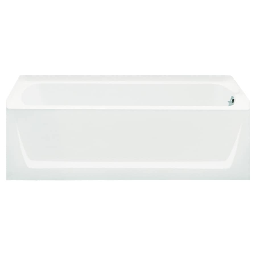 Sterling Ensemble White Fiberglass and Plastic Composite Rectangular Skirted Bathtub with Right-Hand Drain (Common: 32-in x 60-in; Actual: 20-in x 32-in x 60.25-in)