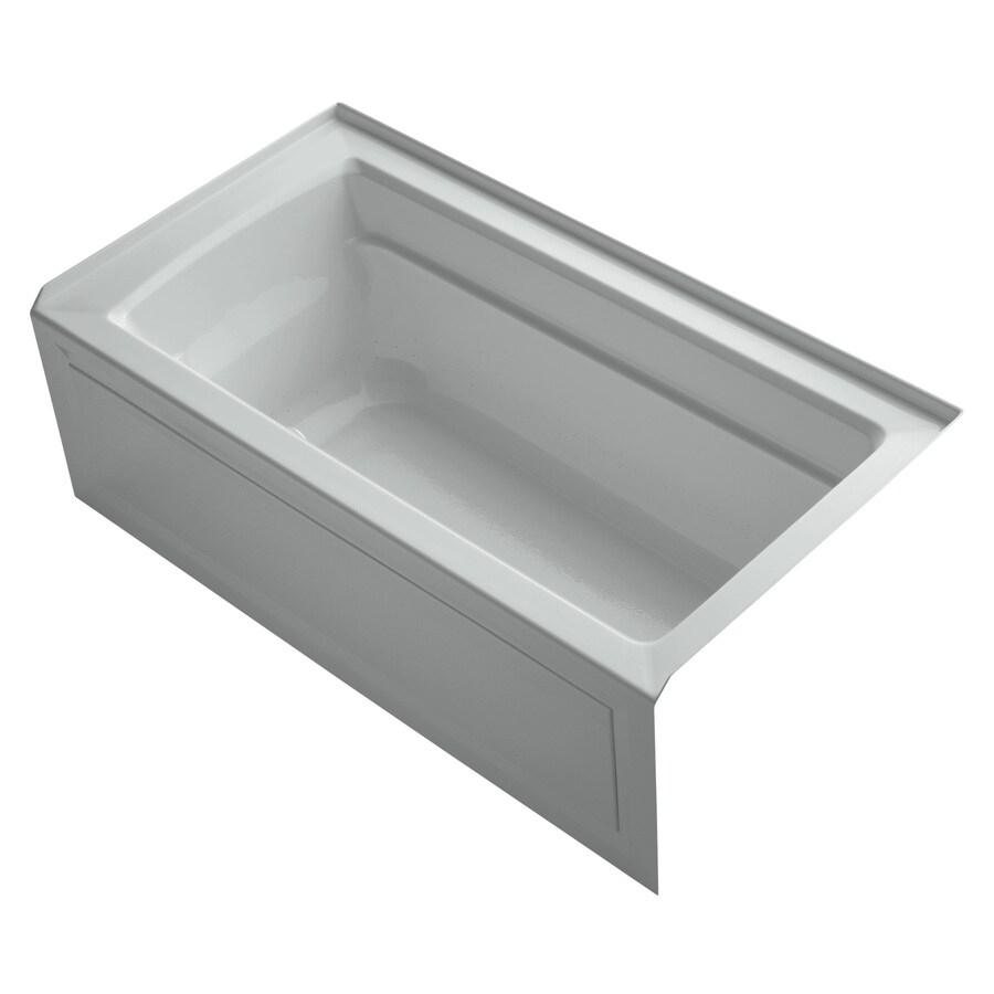 KOHLER Archer 60-in L x 32-in W x 19-in H Acrylic Rectangular Alcove Air Bath