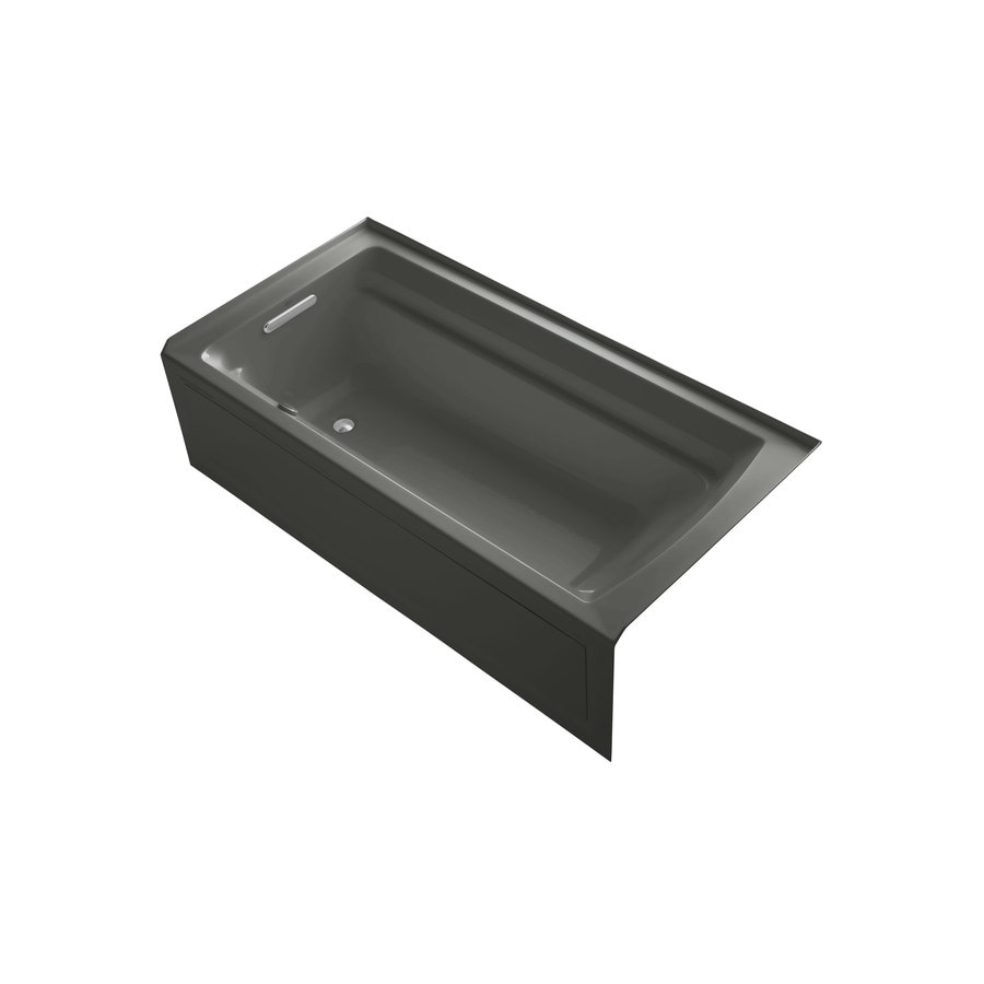 KOHLER Archer 72-in L x 36-in W x 19-in H Thunder Grey Rectangular Air Bath