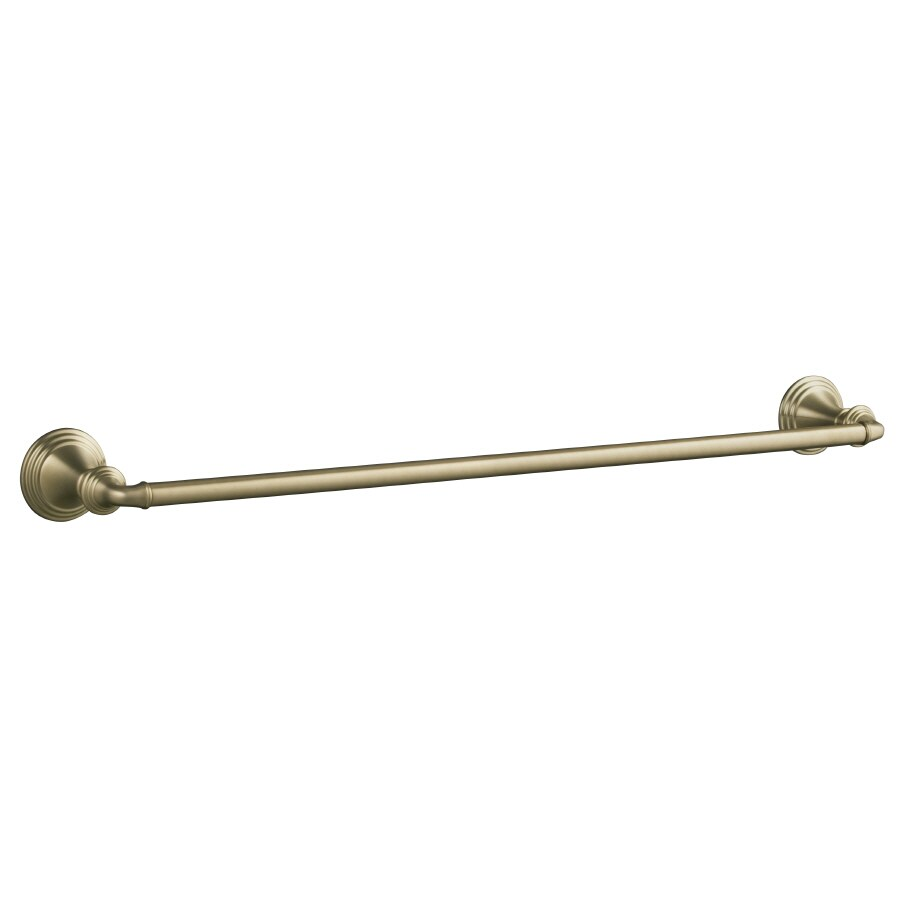 KOHLER Devonshire Vibrant Brushed Bronze Single Towel Bar (Common: 24-in; Actual: 26.375-in)