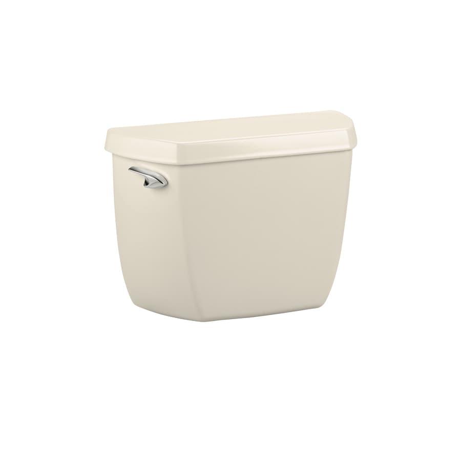 KOHLER Wellworth Almond 1.6-GPF (6.06-LPF) 12-in Rough-In Single-Flush Toilet Tank