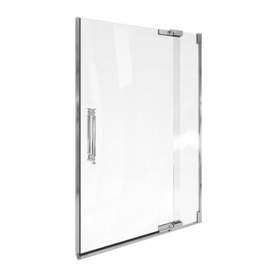 KOHLER Pinstripe 47.75-in to 45.25-in Frameless Pivot Shower Door