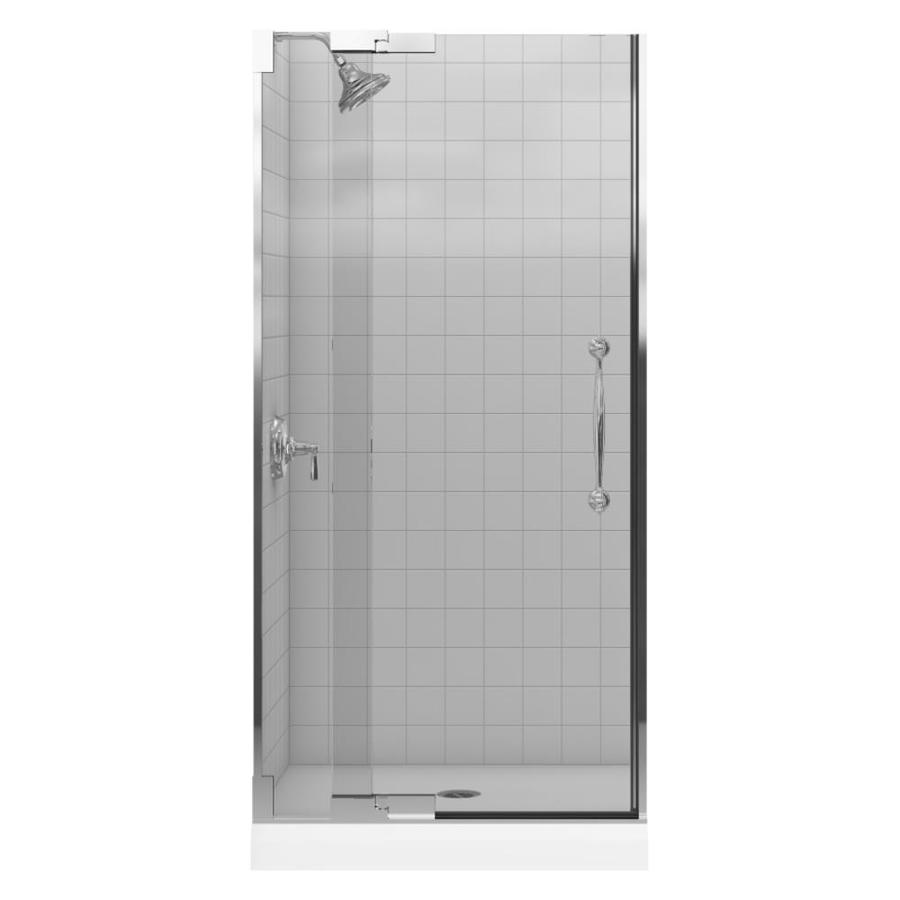 KOHLER Finial 33.25-in to 35.75-in Frameless Pivot Shower Door