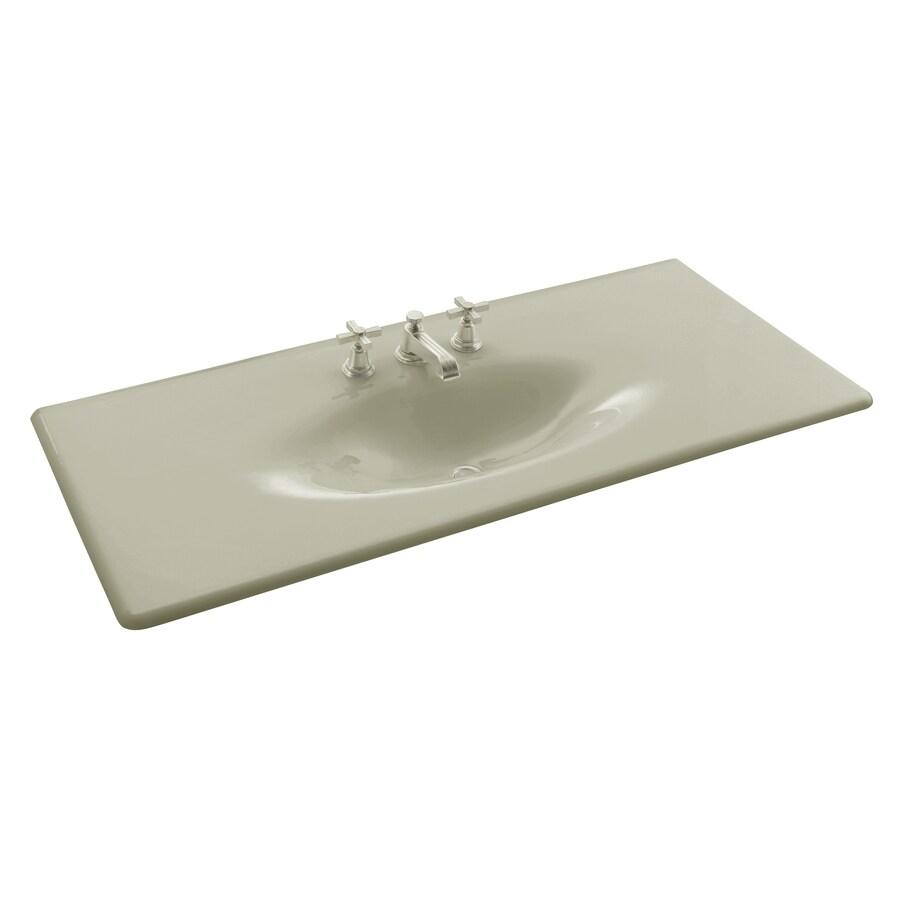 KOHLER Impressions Sandbar Cast Iron Drop-in Oval Bathroom Sink