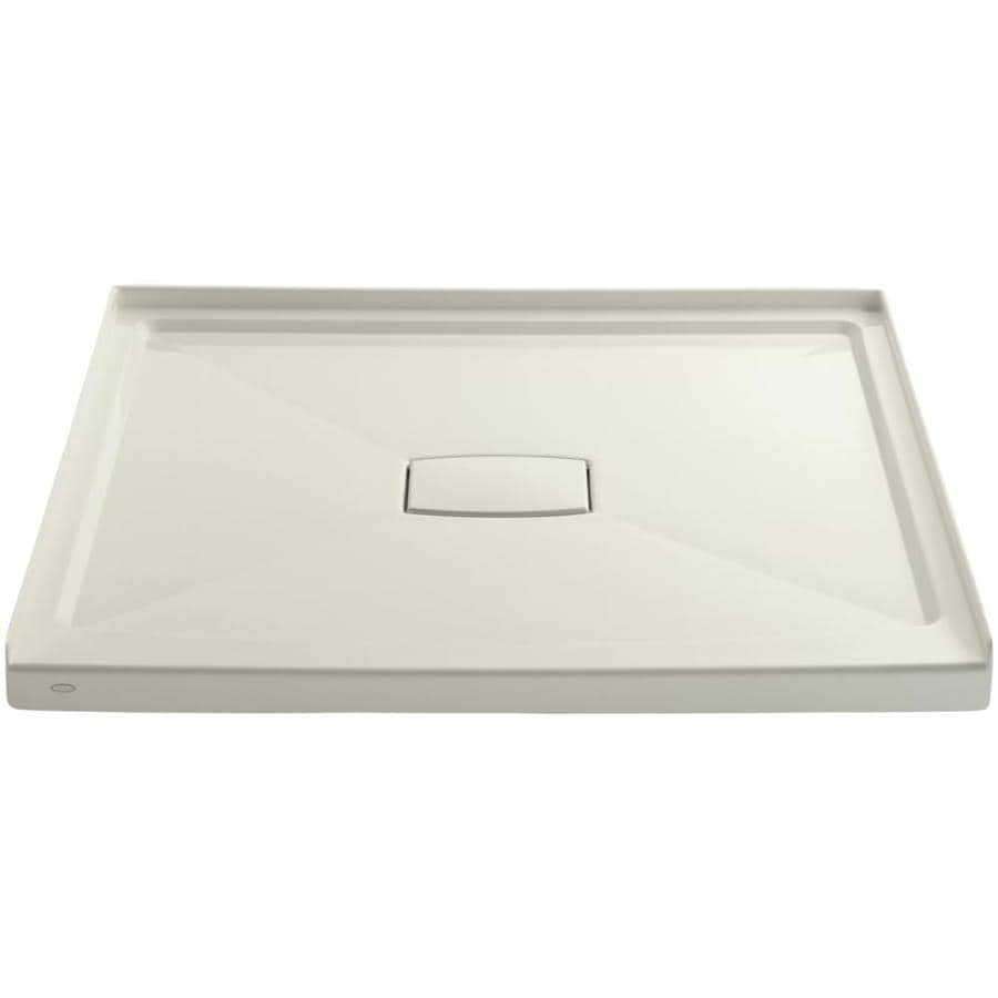 KOHLER Archer Biscuit Acrylic Shower Base (Common: 48-in W x 48-in L; Actual: 48-in W x 48-in L)