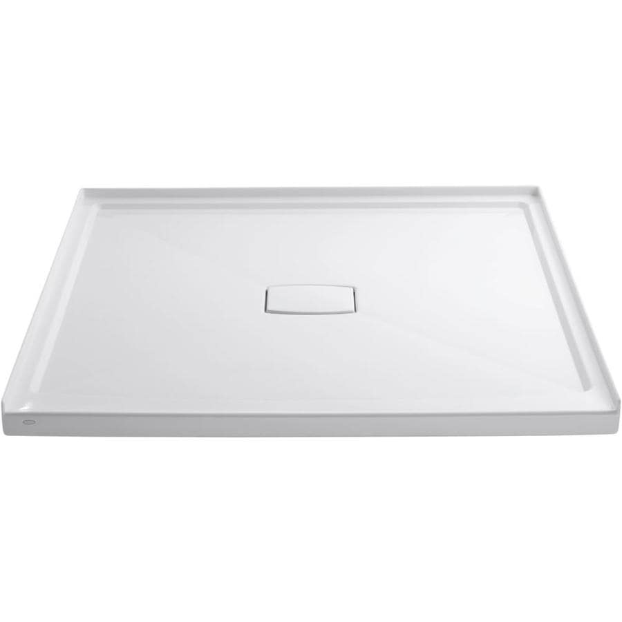 KOHLER Archer White Acrylic Shower Base (Common: 60-in W x 60-in L; Actual: 60-in W x 60-in L)