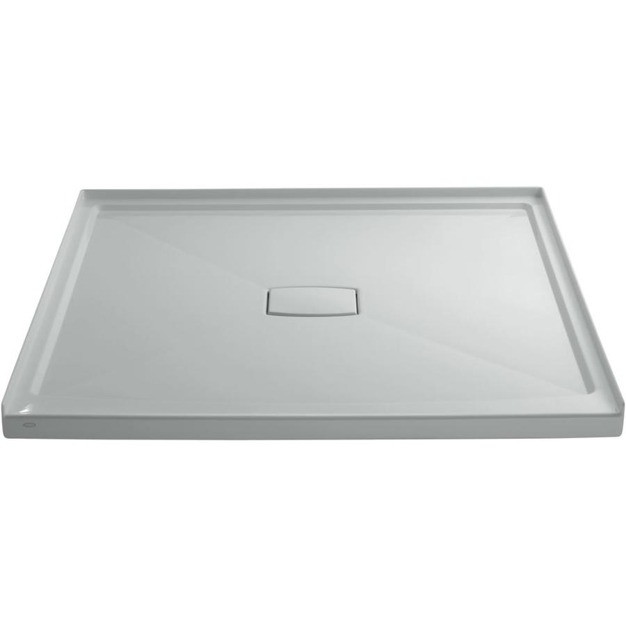 KOHLER Archer Ice Grey Acrylic Shower Base (Common: 60-in W x 60-in L; Actual: 60-in W x 60-in L)