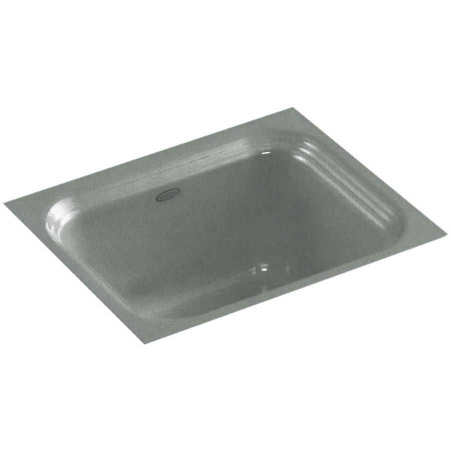 KOHLER Northland Basalt Single-Basin Cast Iron Undermount Commercial Bar Sink