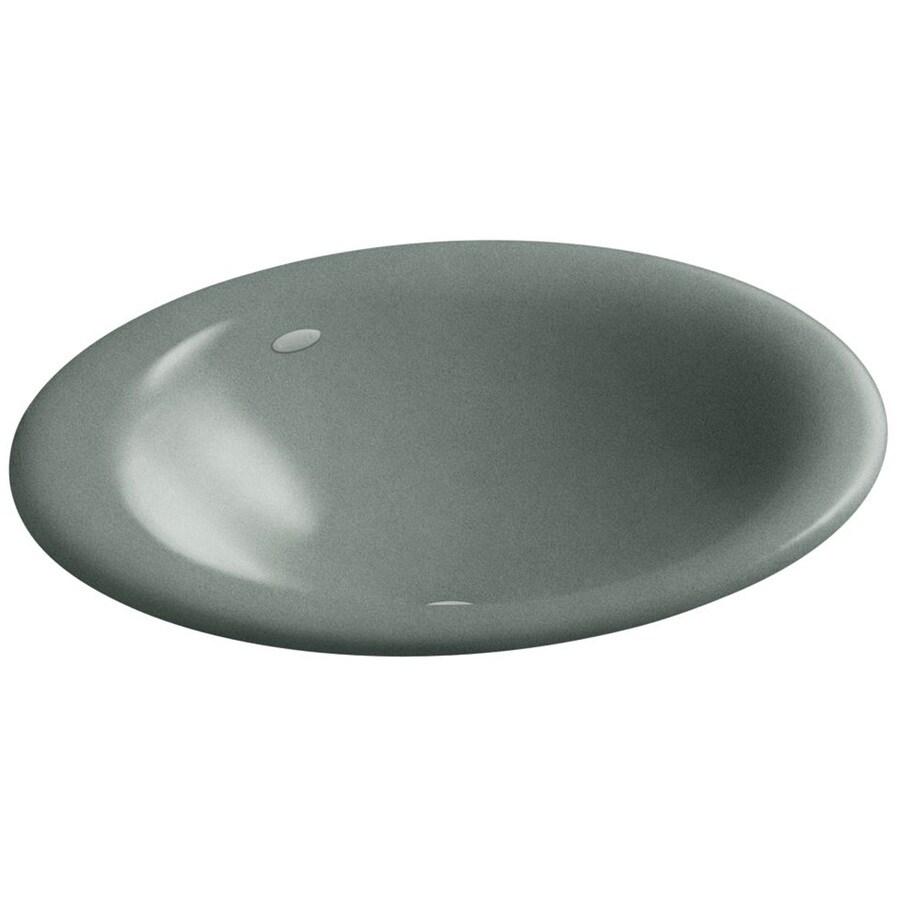 KOHLER Iron Bell Basalt Cast Iron Drop-in Oval Bathroom Sink