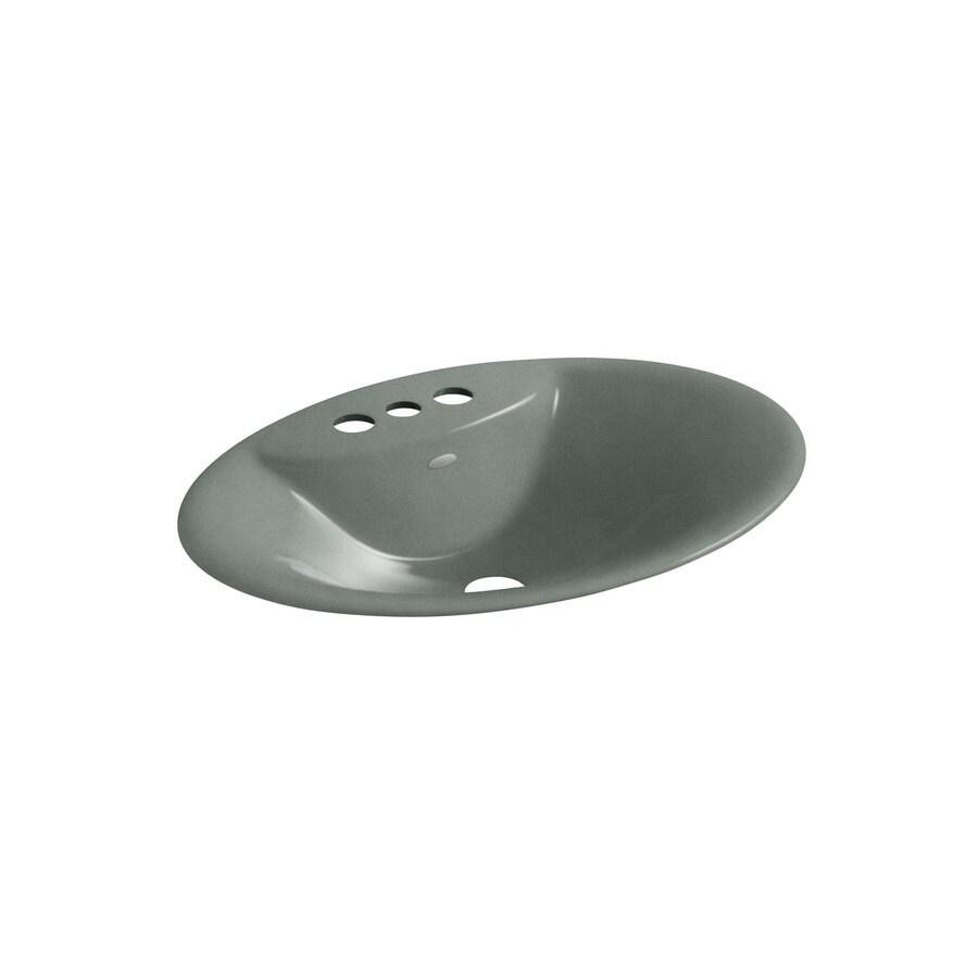 KOHLER Maratea Basalt Cast Iron Drop-in Oval Bathroom Sink