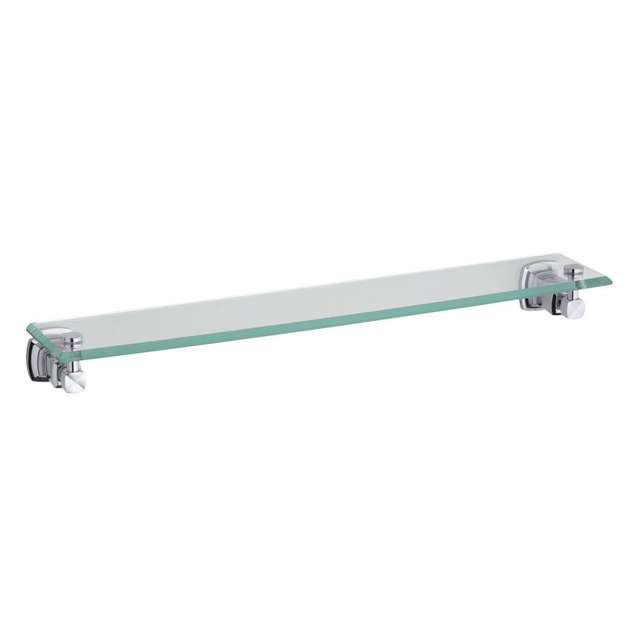 KOHLER Margaux Polished Chrome Glass Bathroom Shelf