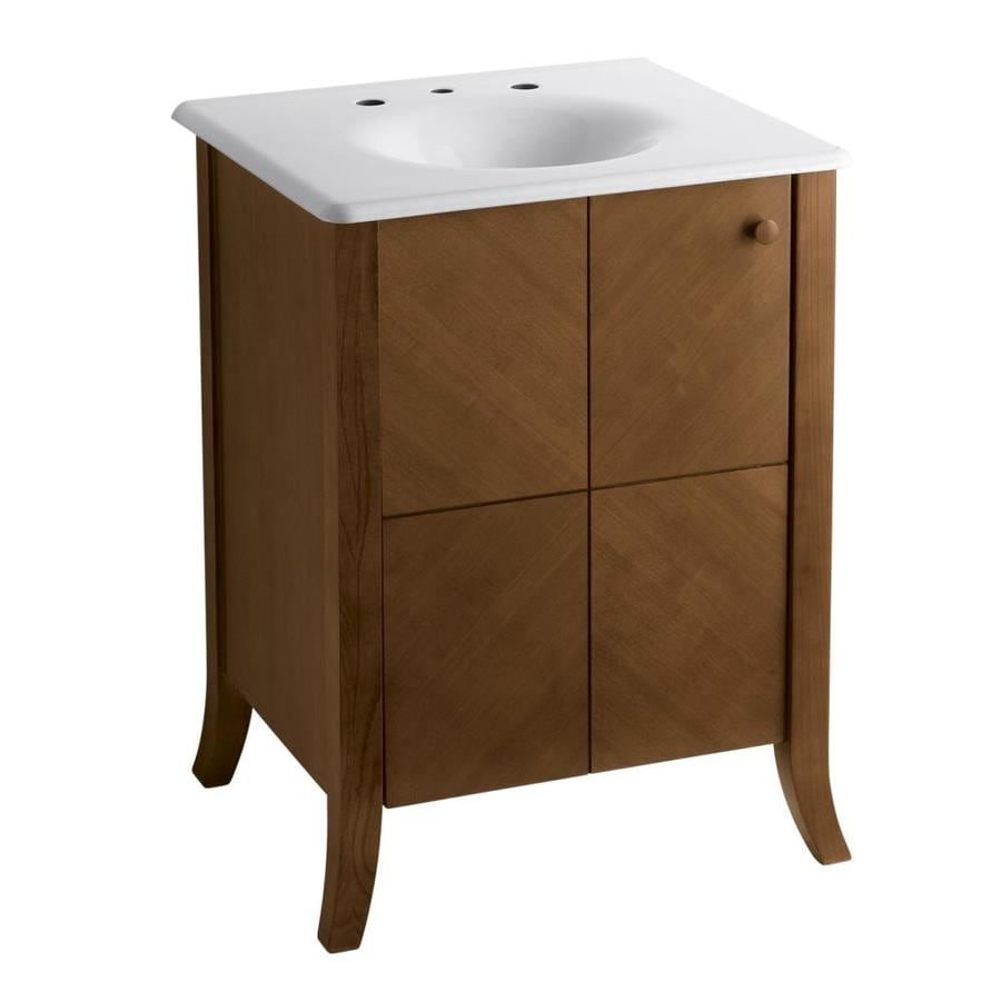 KOHLER Clermont Oxford Transitional Bathroom Vanity (Common: 24-in x 22-in; Actual: 24-in x 21.5-in)