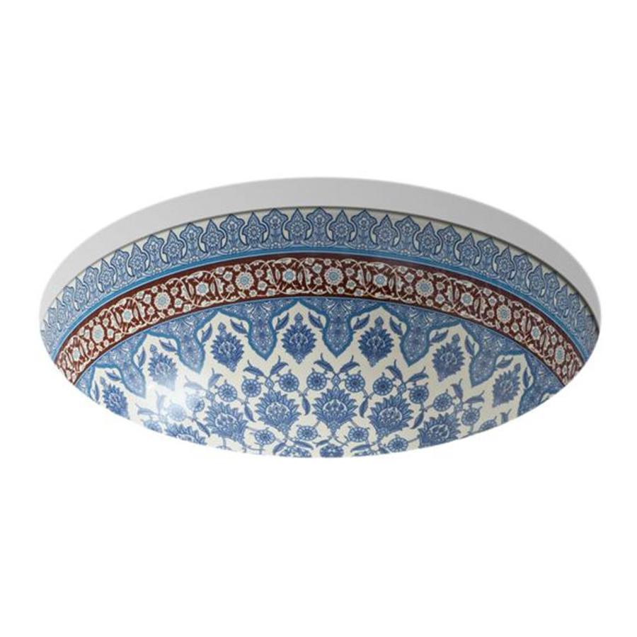 KOHLER Camber Biscuit Undermount Round Bathroom Sink