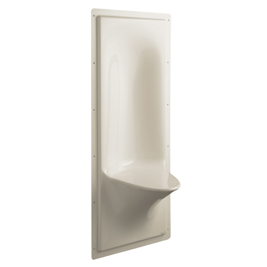 KOHLER Sandbar Plastic Wall Mount Shower Seat