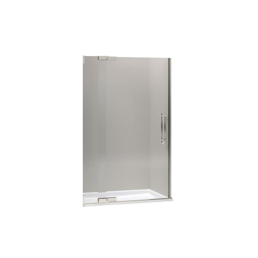 KOHLER Finial 45.25-in to 47.75-in Frameless Pivot Shower Door