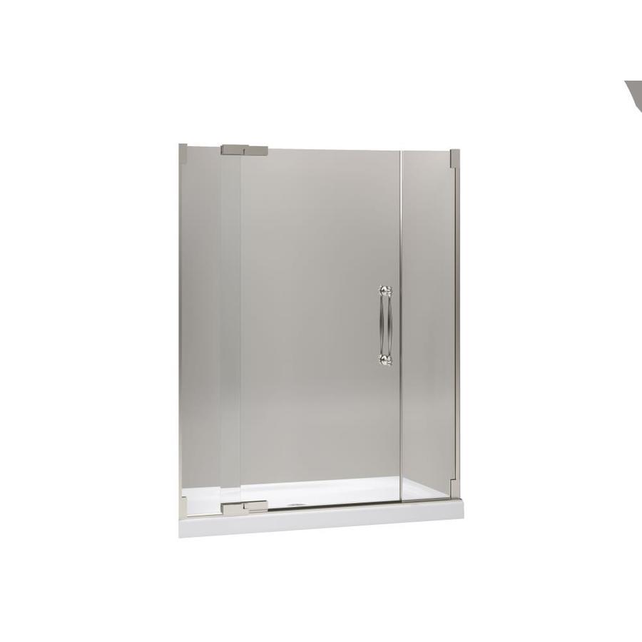 KOHLER Finial 57.25-in to 59.75-in Frameless Pivot Shower Door