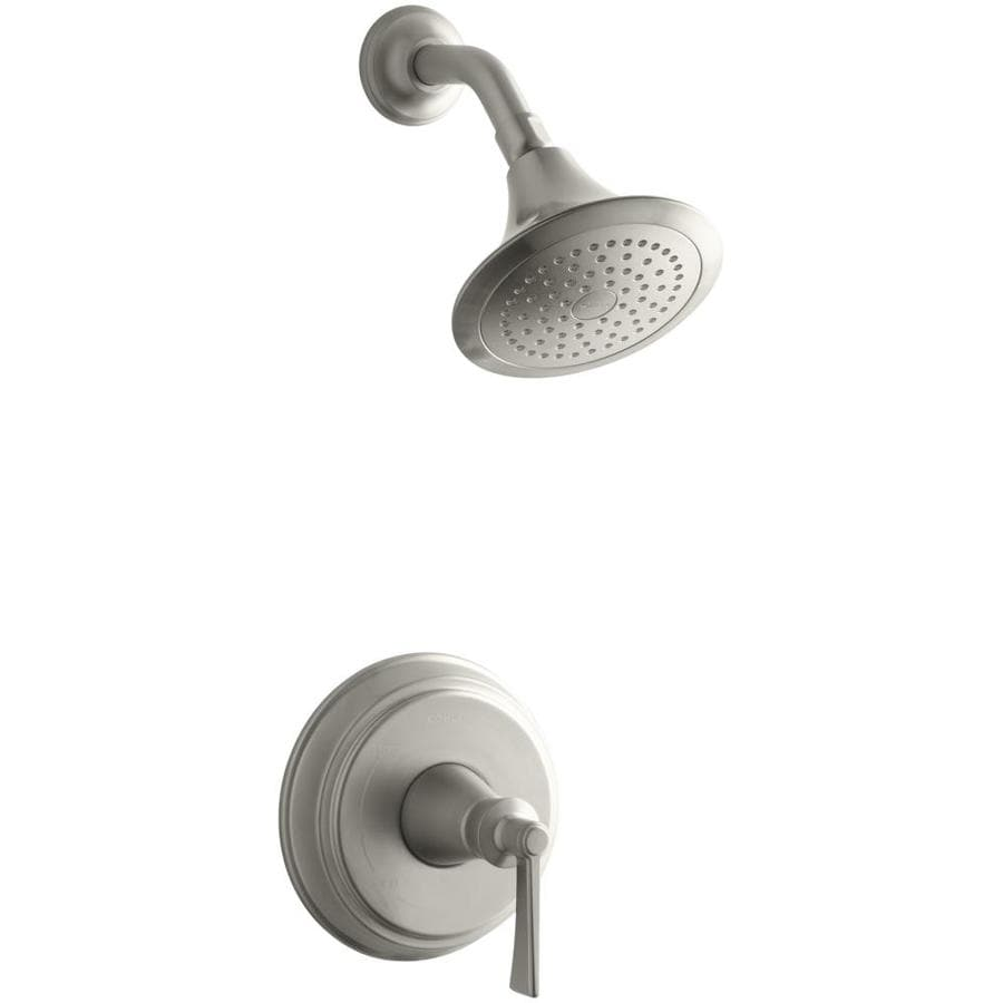 KOHLER Archer Vibrant Brushed Nickel 1-Handle Shower Faucet Trim Kit with Single Function Showerhead