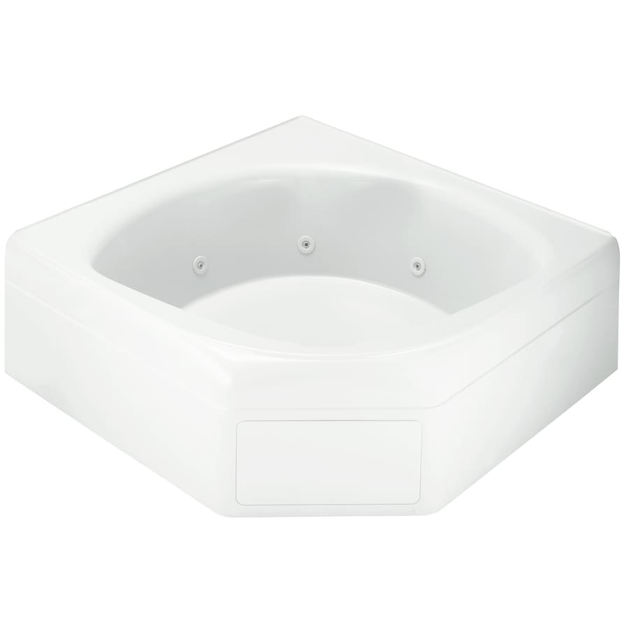 Sterling Ensemble White Vikrell Corner Whirlpool Tub (Common: 60-in x 60-in; Actual: 20-in x 60-in x 60-in)