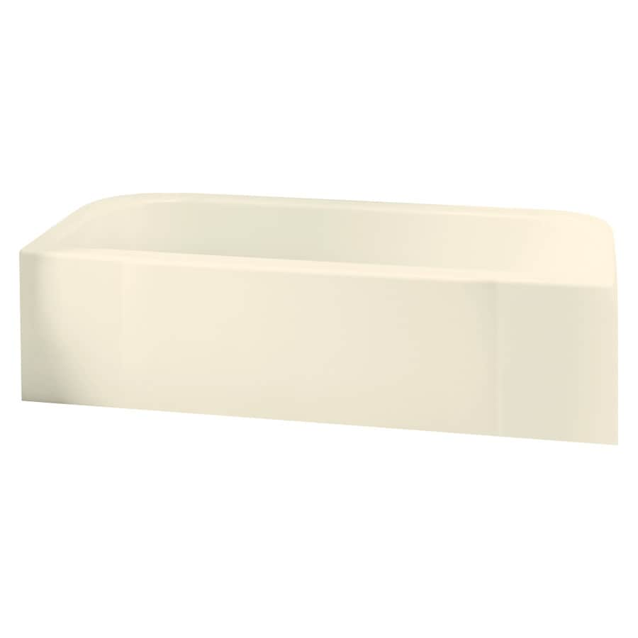 Sterling Accord Biscuit Fiberglass and Plastic Composite Rectangular Skirted Bathtub with Left-Hand Drain (Common: 30-in x 60-in; Actual: 17.25-in x 30.5-in x 60.25-in)
