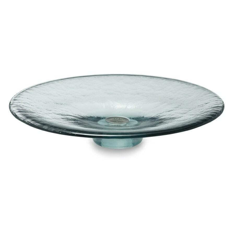 kohler artist edition lavinia ice glass vessel round bathroom sink