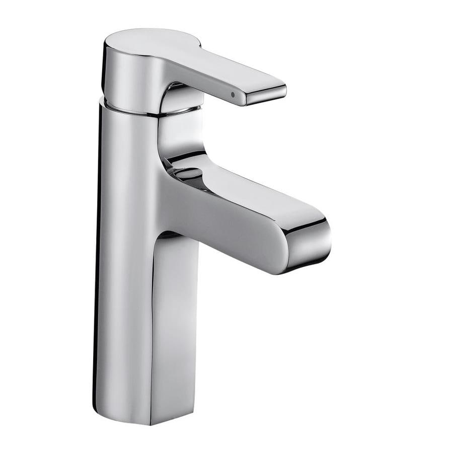 KOHLER Singulier Polished Chrome 1-Handle Single Hole Bathroom Faucet (Drain Included)