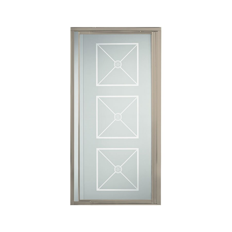 Sterling Vista Pivot II 27.5-in to 31.25-in Brushed Nickel Pivot Shower Door