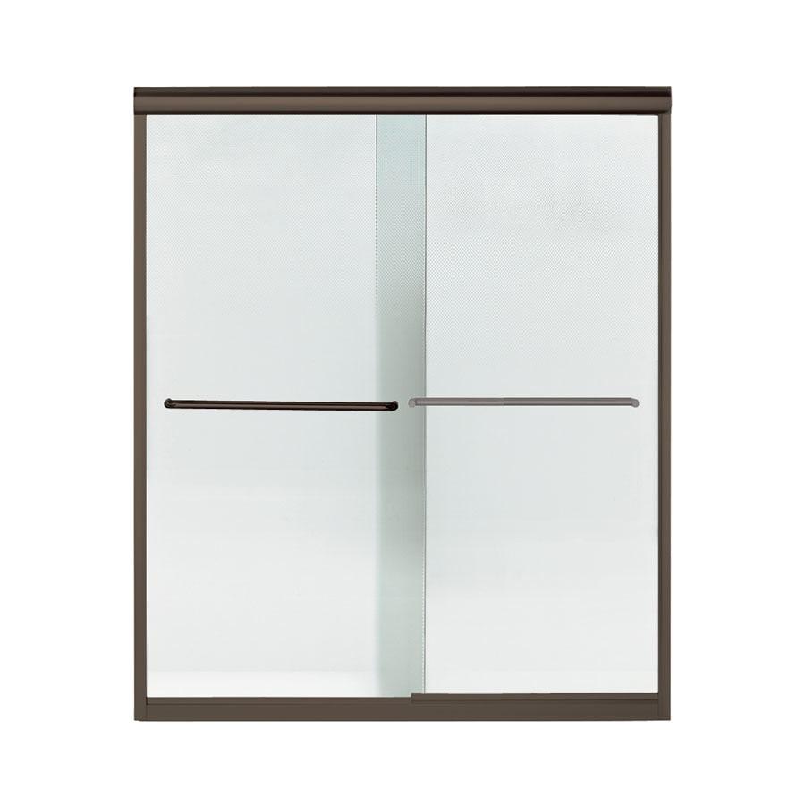 Sterling Finesse 54.625-in to 59.625-in W x 70.0625-in H Dark Bronze Sliding Shower Door