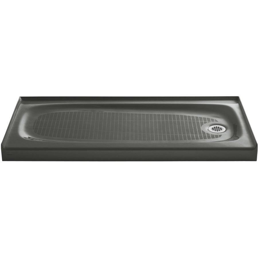 KOHLER Salient Thunder Grey Cast Iron Shower Base (Common: 30-in W x 60-in L; Actual: 30-in W x 60-in L)