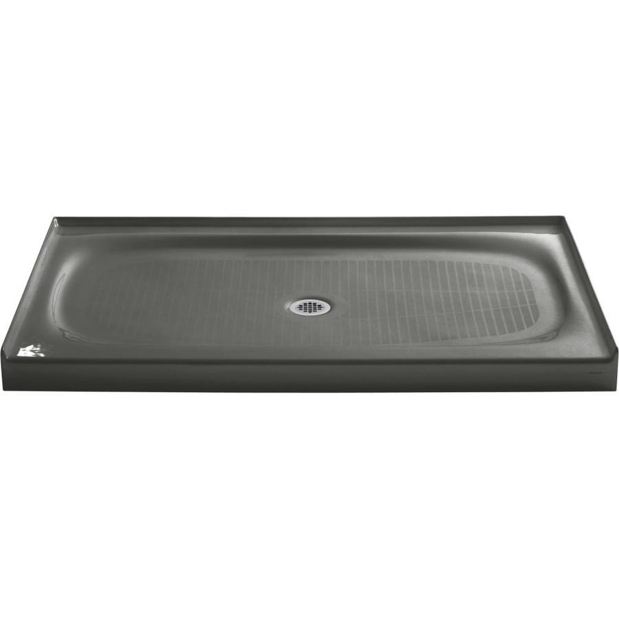 KOHLER Salient Thunder Grey Cast Iron Shower Base (Common: 36-in W x 60-in L; Actual: 36-in W x 60-in L)