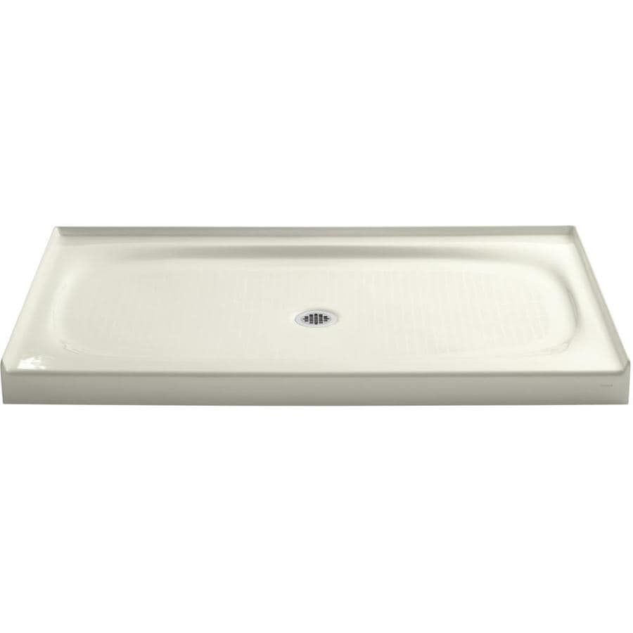 KOHLER Salient Biscuit Cast Iron Shower Base (Common: 36-in W x 60-in L; Actual: 36-in W x 60-in L)