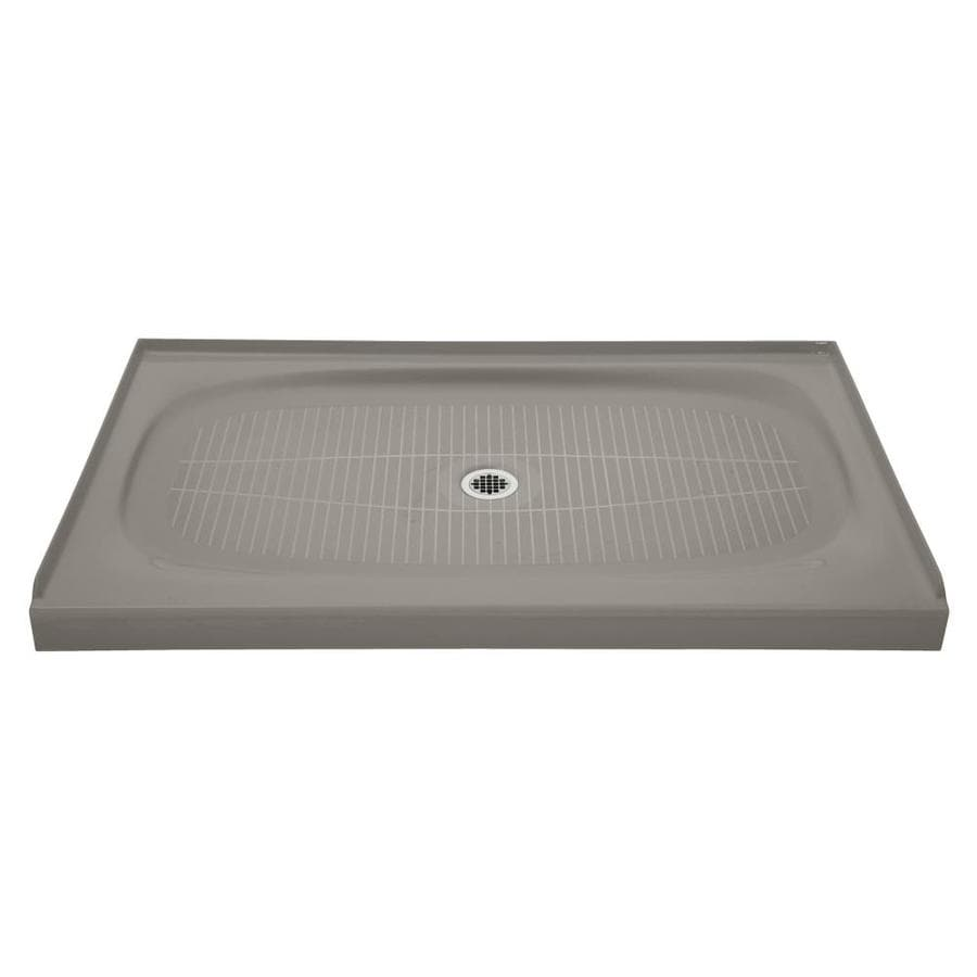 KOHLER Salient Cashmere Cast Iron Shower Base (Common: 36-in W x 60-in L; Actual: 36-in W x 60-in L)