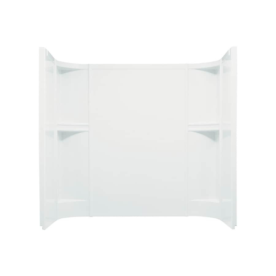 Sterling Accord White Shower Wall Surround Side and Back Panels (Common: 60-in; Actual: 55-in x 60-in)