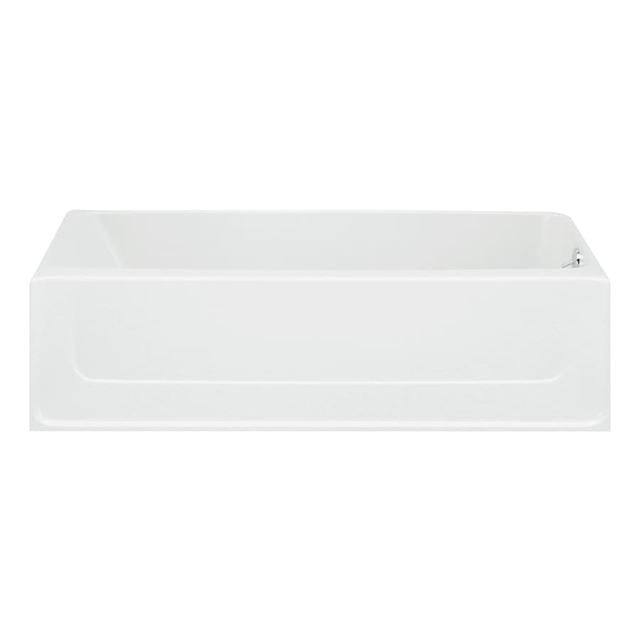 Sterling All Pro White Vikrell Rectangular Skirted Bathtub with Right-Hand Drain (Common: 30-in x 60-in; Actual: 15-in x 30-in x 60-in)