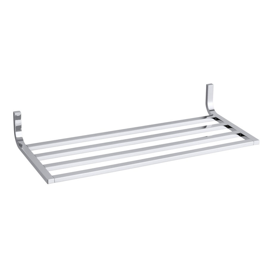 KOHLER Loure Polished Chrome Metal Bathroom Shelf