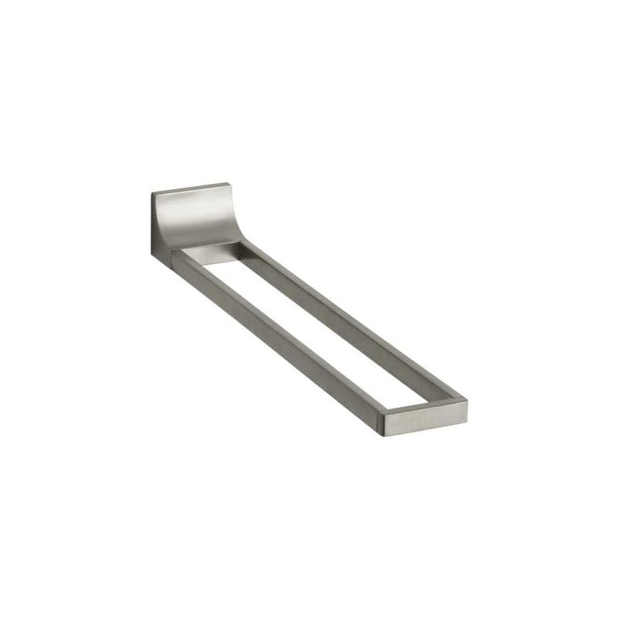 KOHLER Loure Vibrant Brushed Nickel Double Towel Bar (Common: 17-in; Actual: 17.875-in)