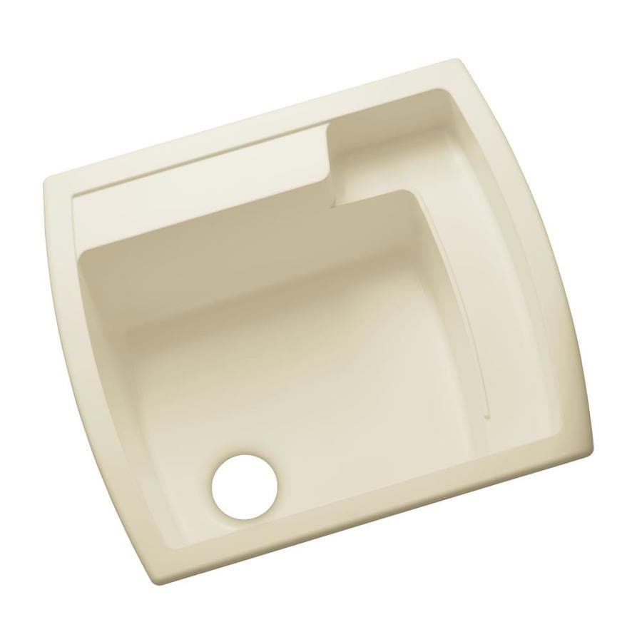 Sterling 22-in x 25-in 1-Basin Almond Undermount Composite Tub Utility Sink