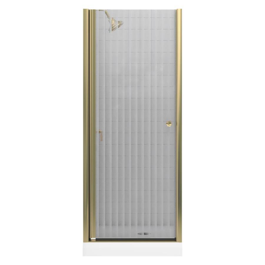 KOHLER Fluence 30.25-in to 30.25-in Frameless Pivot Shower Door