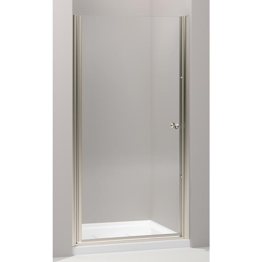 KOHLER Fluence 36.25-in to 37.75-in Frameless Pivot Shower Door