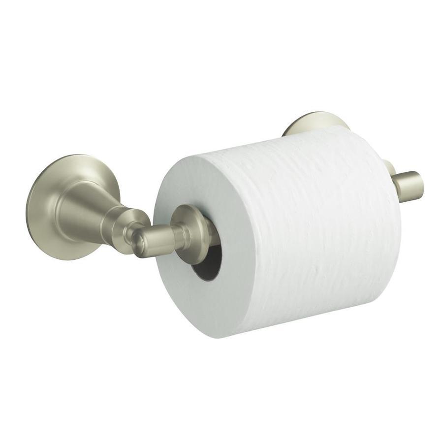 KOHLER Archer Vibrant Brushed Nickel Surface Mount Toilet Paper Holder