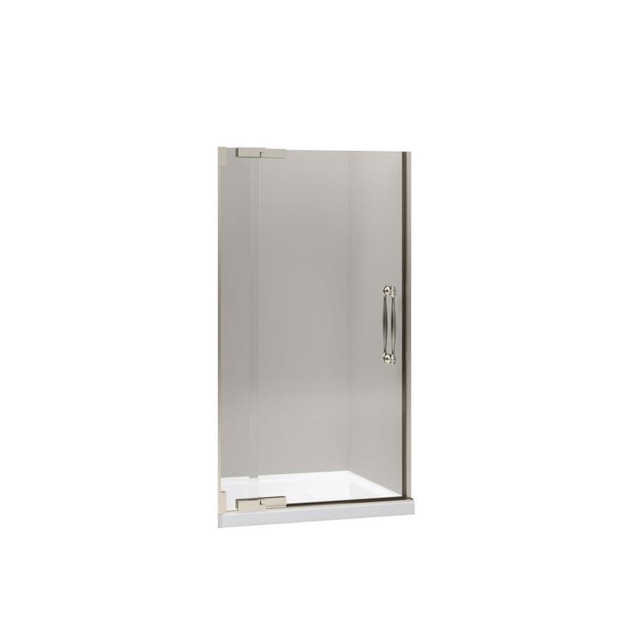 KOHLER Finial 39.25-in to 41.75-in Frameless Pivot Shower Door