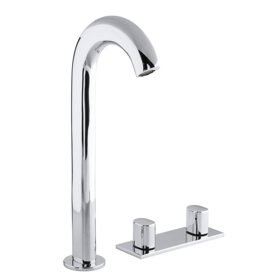 KOHLER Oblo Polished Chrome 2-Handle Widespread WaterSense Bathroom Faucet (Drain Included)
