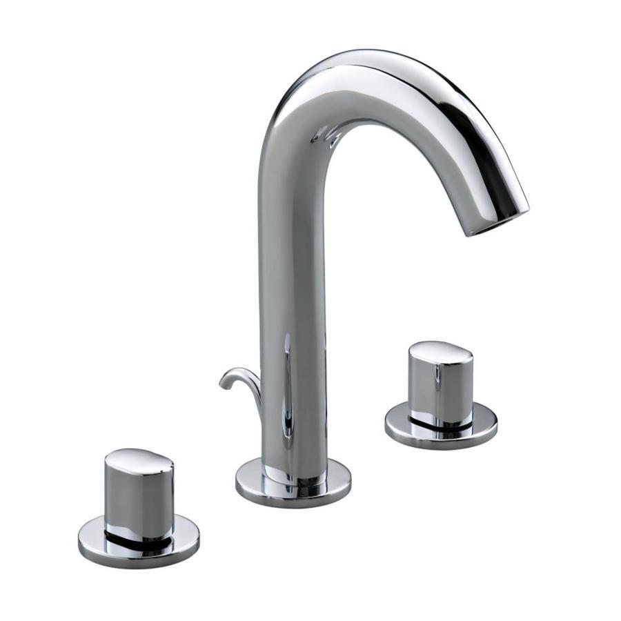 KOHLER Oblo Polished Chrome 2-Handle Widespread Bathroom Faucet (Drain Included)