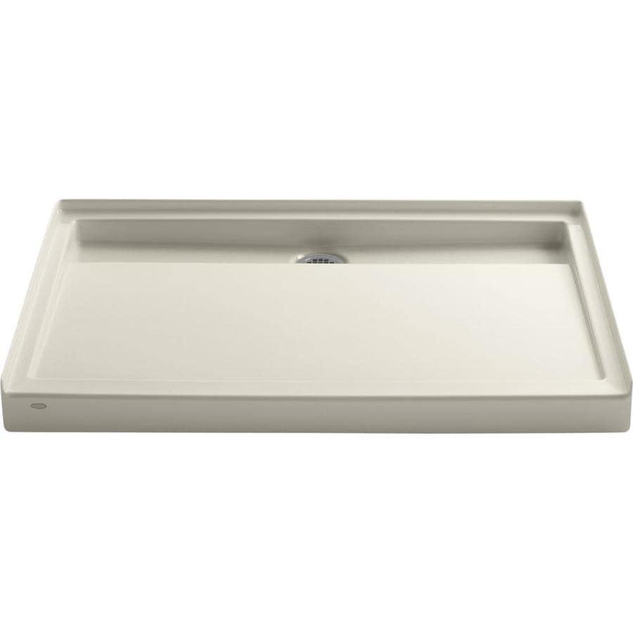 KOHLER Groove Almond Acrylic Shower Base (Common: 36-in W x 48-in L; Actual: 36-in W x 48-in L)