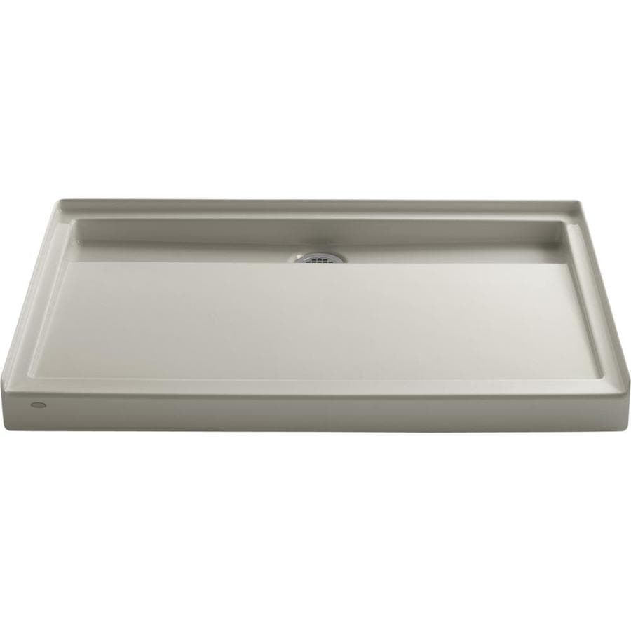 KOHLER Groove Sandbar Acrylic Shower Base (Common: 36-in W x 48-in L; Actual: 36-in W x 48-in L)