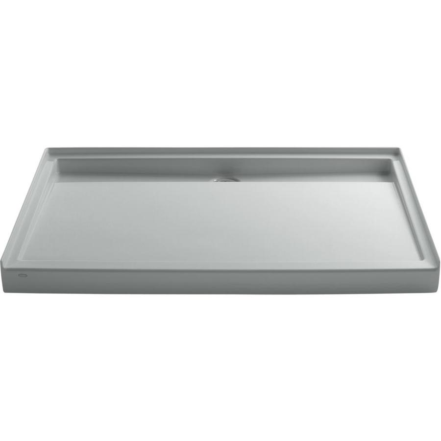 KOHLER Groove Ice Grey Acrylic Shower Base (Common: 42-in W x 60-in L; Actual: 42-in W x 60-in L)