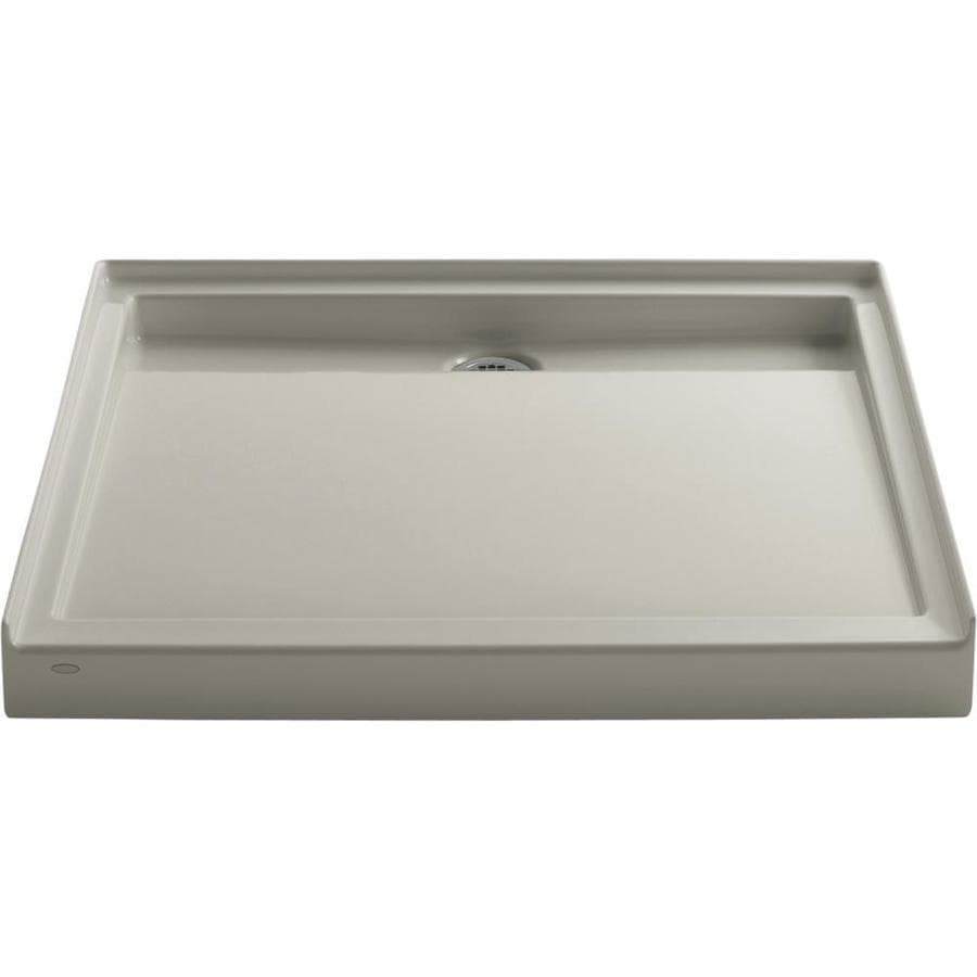 KOHLER Groove Sandbar Acrylic Shower Base (Common: 42-in W x 42-in L; Actual: 42-in W x 42-in L)