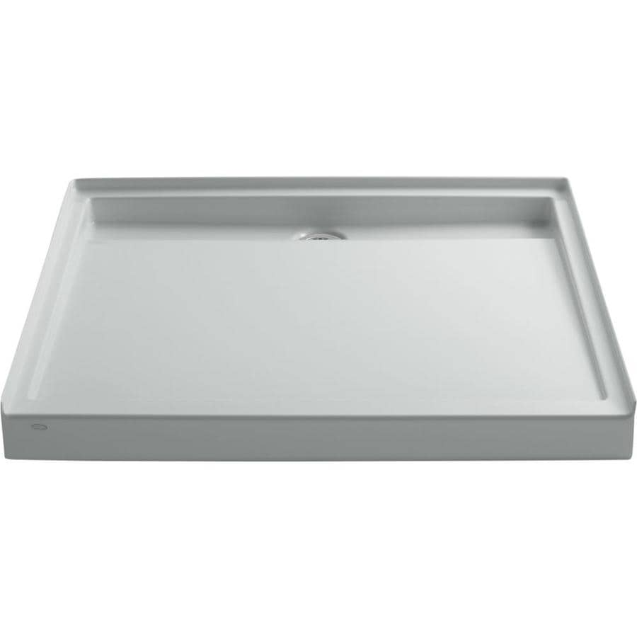 KOHLER Groove Ice Grey Acrylic Shower Base (Common: 48-in W x 48-in L; Actual: 48-in W x 48-in L)