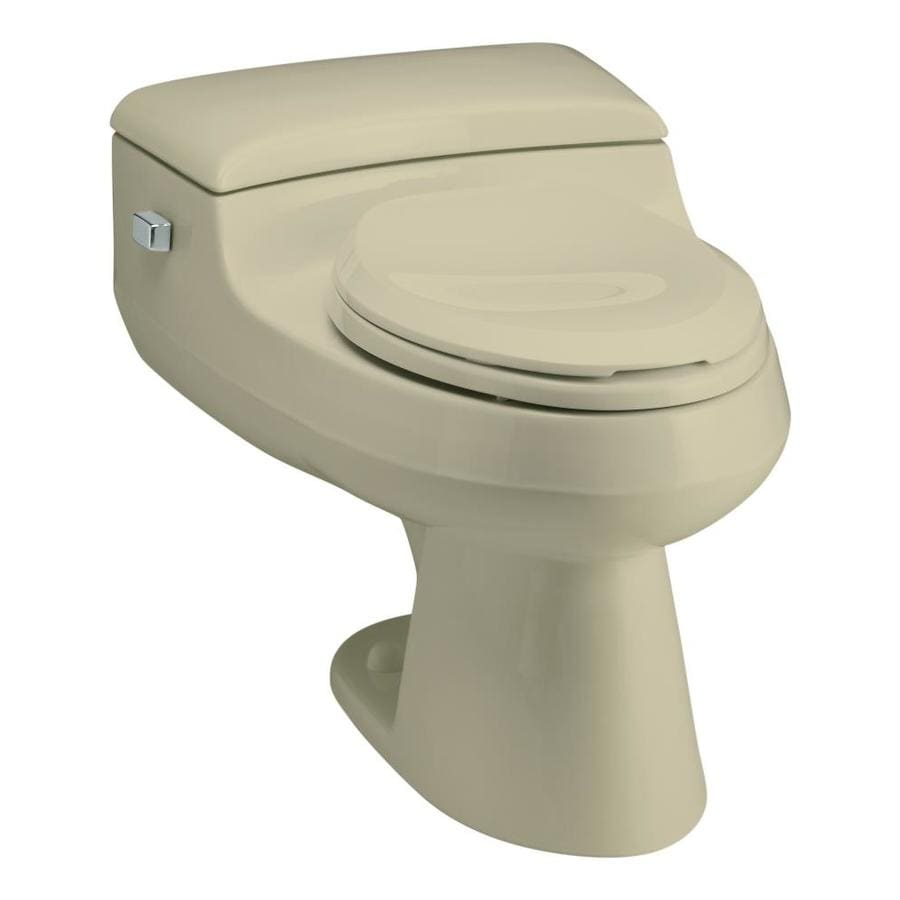 KOHLER San Raphael Sandbar 1.0-GPF (3.79-LPF) 12-in Rough-In WaterSense Elongated Pressure Assist 1-Piece Comfort Height Toilet