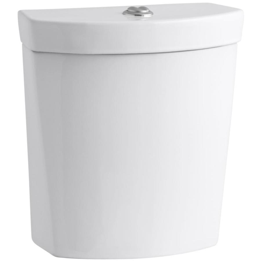 KOHLER Persuade White 1.6-GPF 12-in Rough-In Dual-Flush Toilet Tank